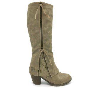 Muk Luks Zip Lacy Boots 7